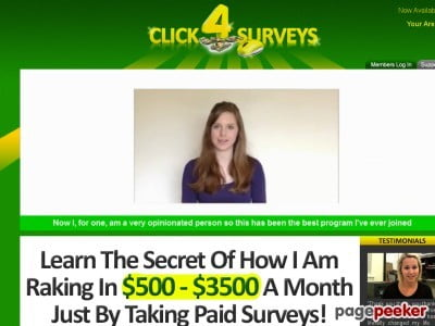 Hot – Click 4 Surveys – Over $1,000,000 In Sales!