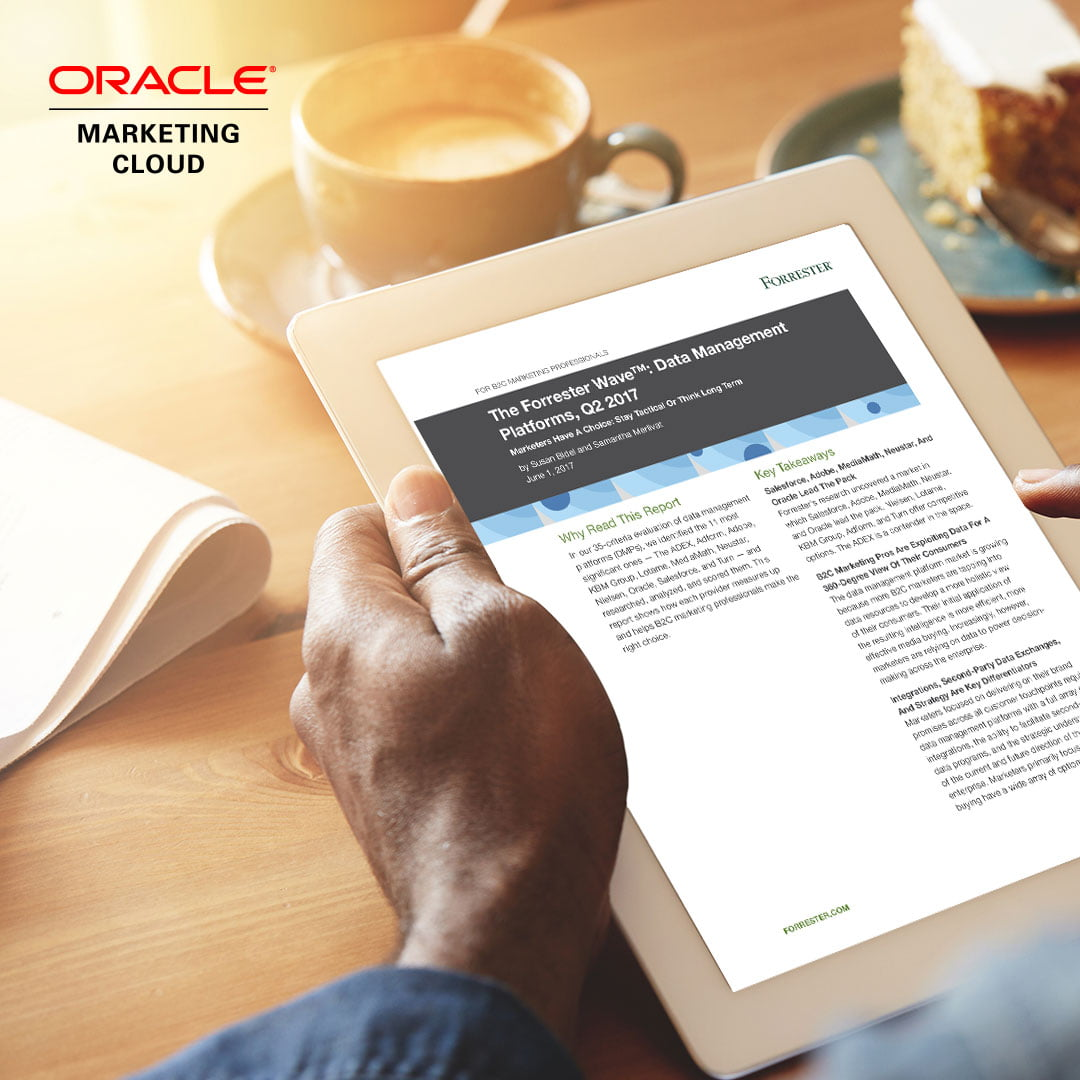 Forrester Names Oracle Marketing Cloud's BlueKai Data Management Platform a Leader in the Wave for DATA MANAGEMENT PLATFORMS