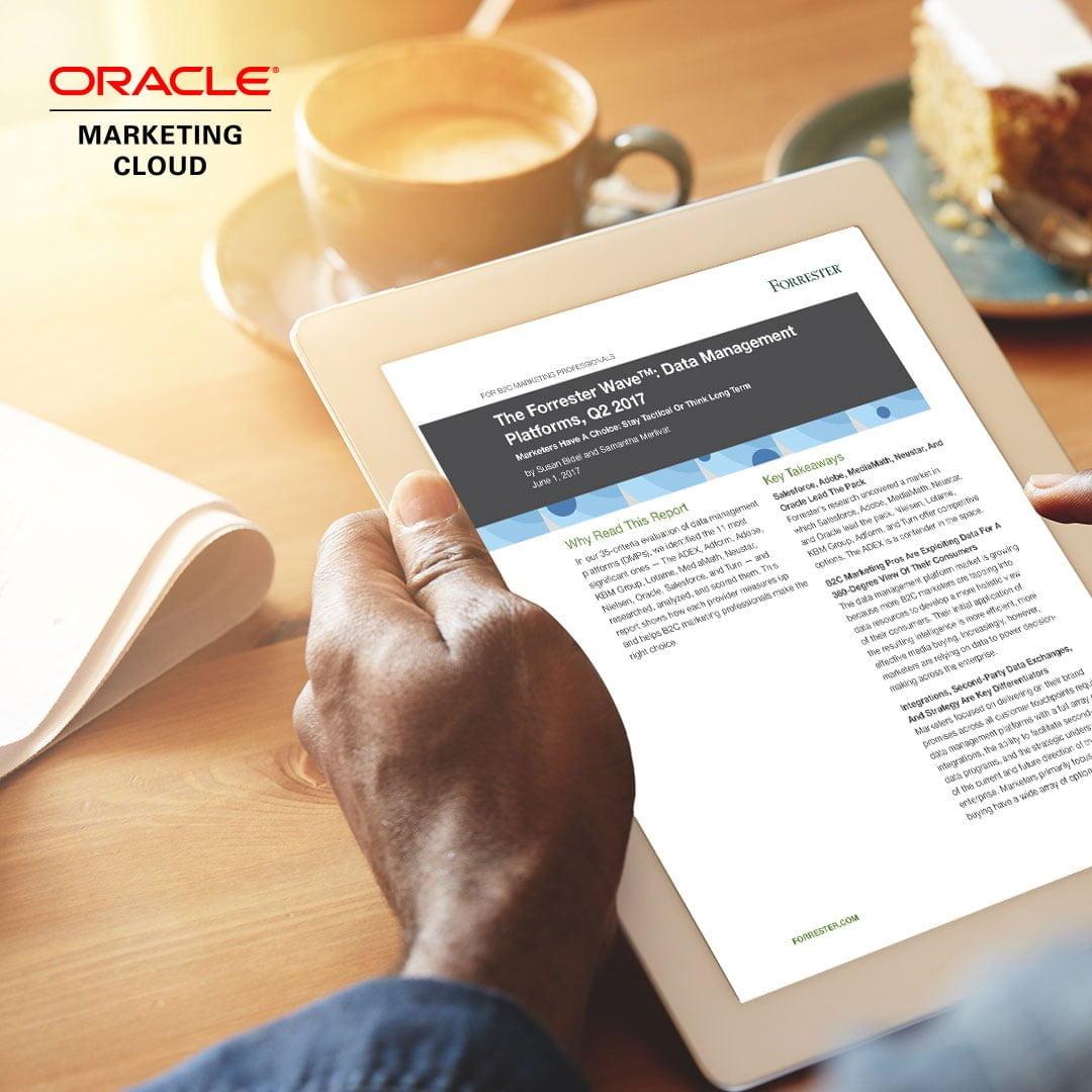 Forrester Names Oracle Marketing Cloud's BlueKai Data Management Platform a Leader in the Wave for DATA MANAGEMENT PLATFORMS