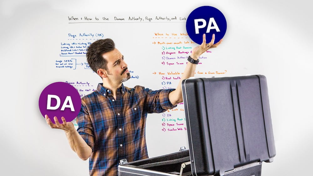 When and How to Use Domain Authority, Page Authority, and Link Count Metrics – Whiteboard Friday