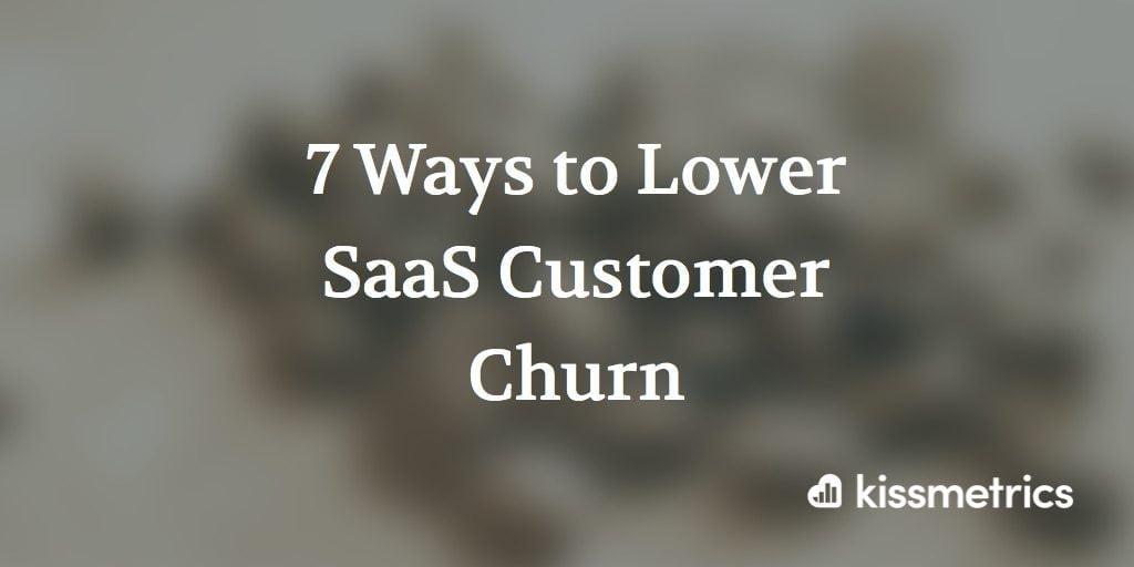 7 ways to lower saas churn cover image