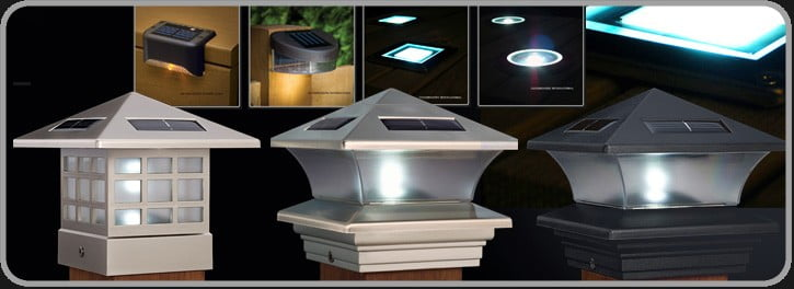Solar Deck Lights and Solar Post Lights