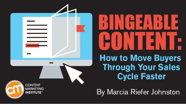 bingeable content move buyers sales cycle faster