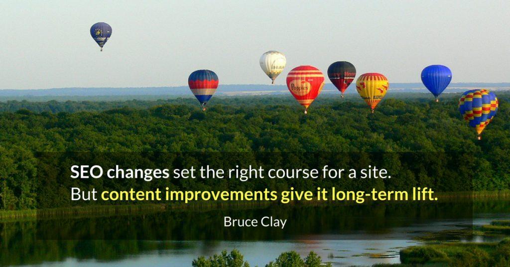content improvements give a site lift