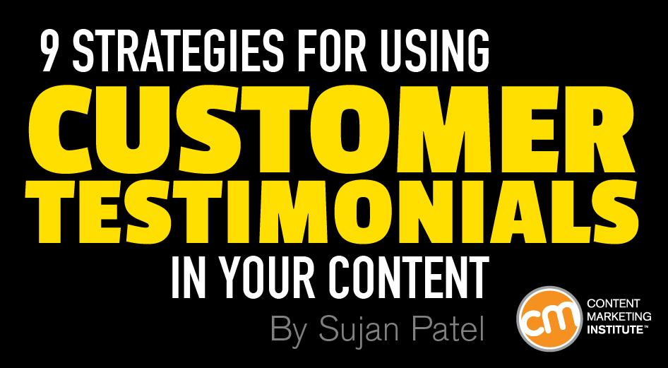 customer testimonials content