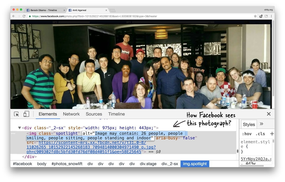 Facebook Image Recognition – What Facebook Can See In Photographs