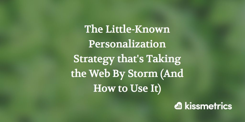 personalization strategy cover image
