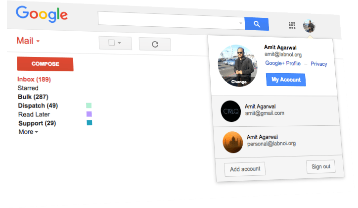 switch gmail accounts 2