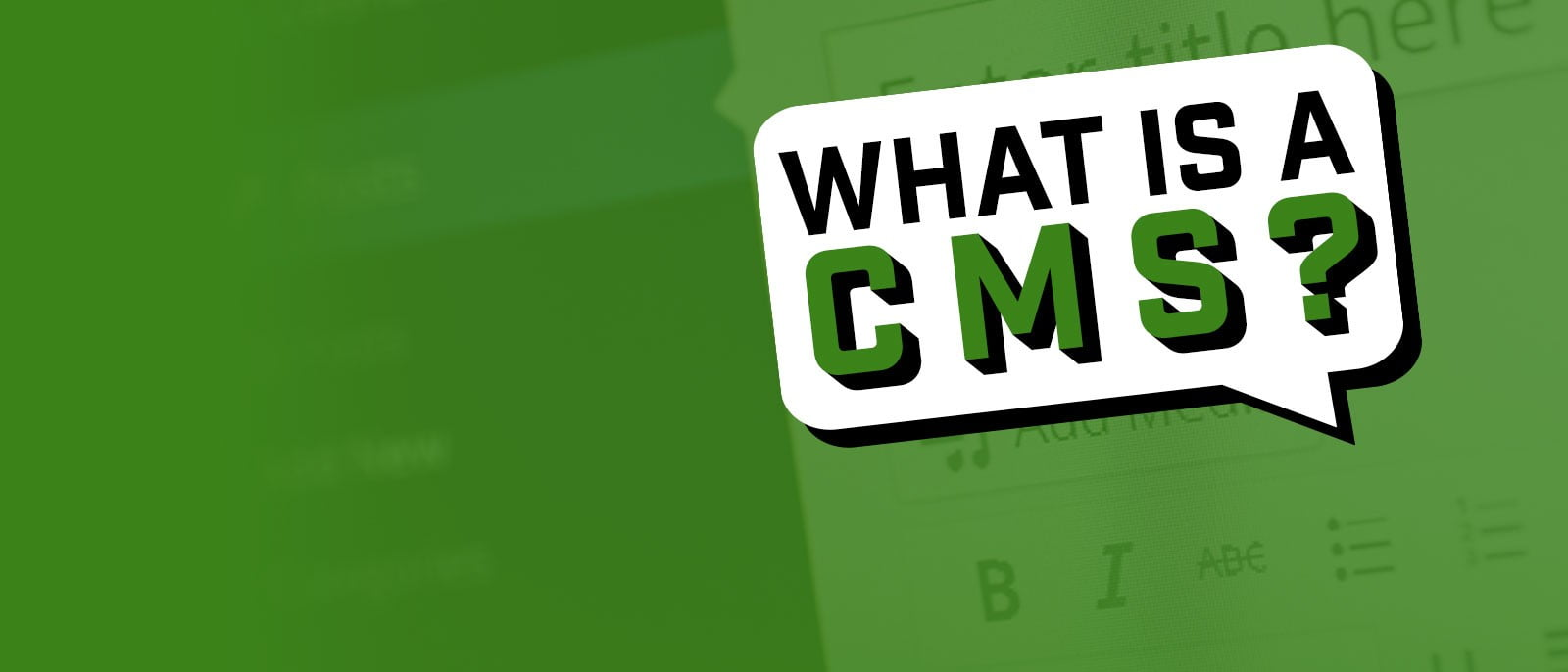 What is a CMS? (New YouTube Video)