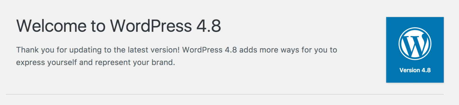 wordpress version 4 8