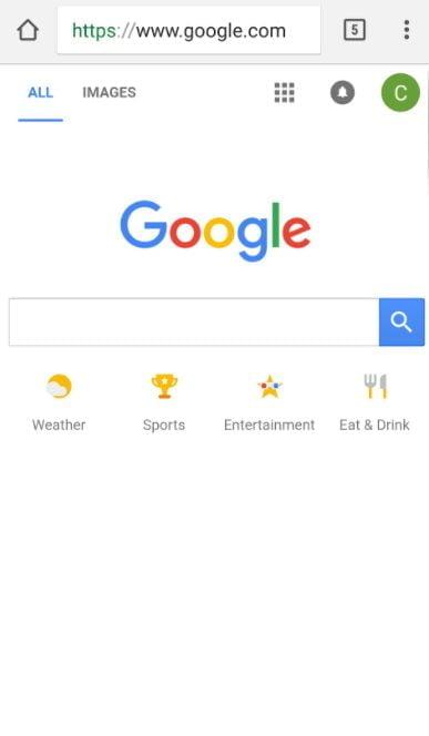 Google updated homepage