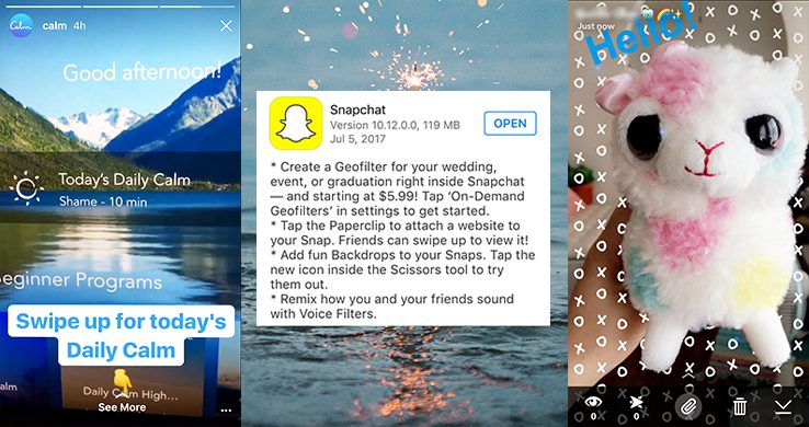Snapchat And Instagram Stories Link It Out Good To Seo