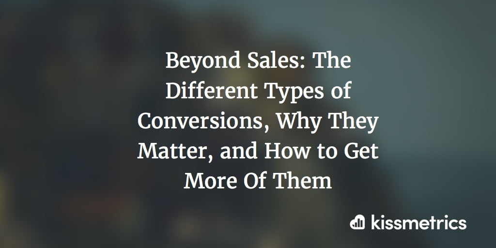 The Different Types of Conversions