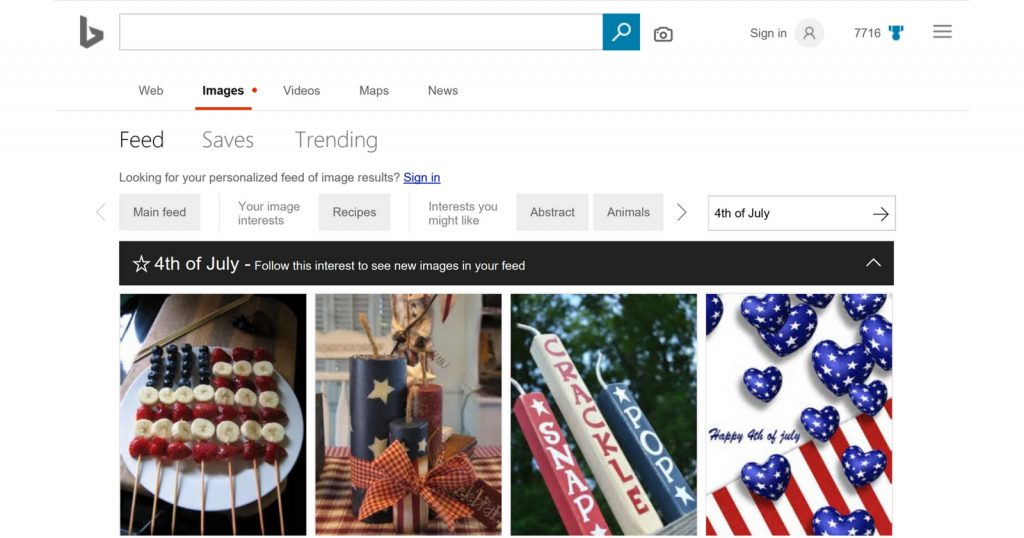 bing personalized feeds