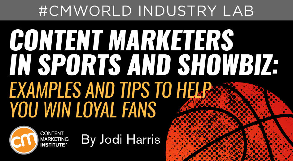 content marketers sports entertainment