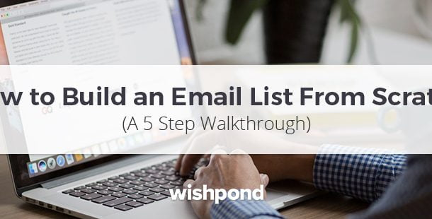 how to build an email list header
