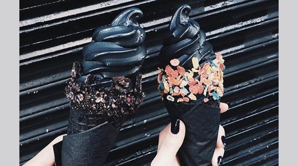 little damage charcoal ice cream