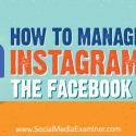 How to Manage Instagram via the Facebook Inbox : Social Media Examiner