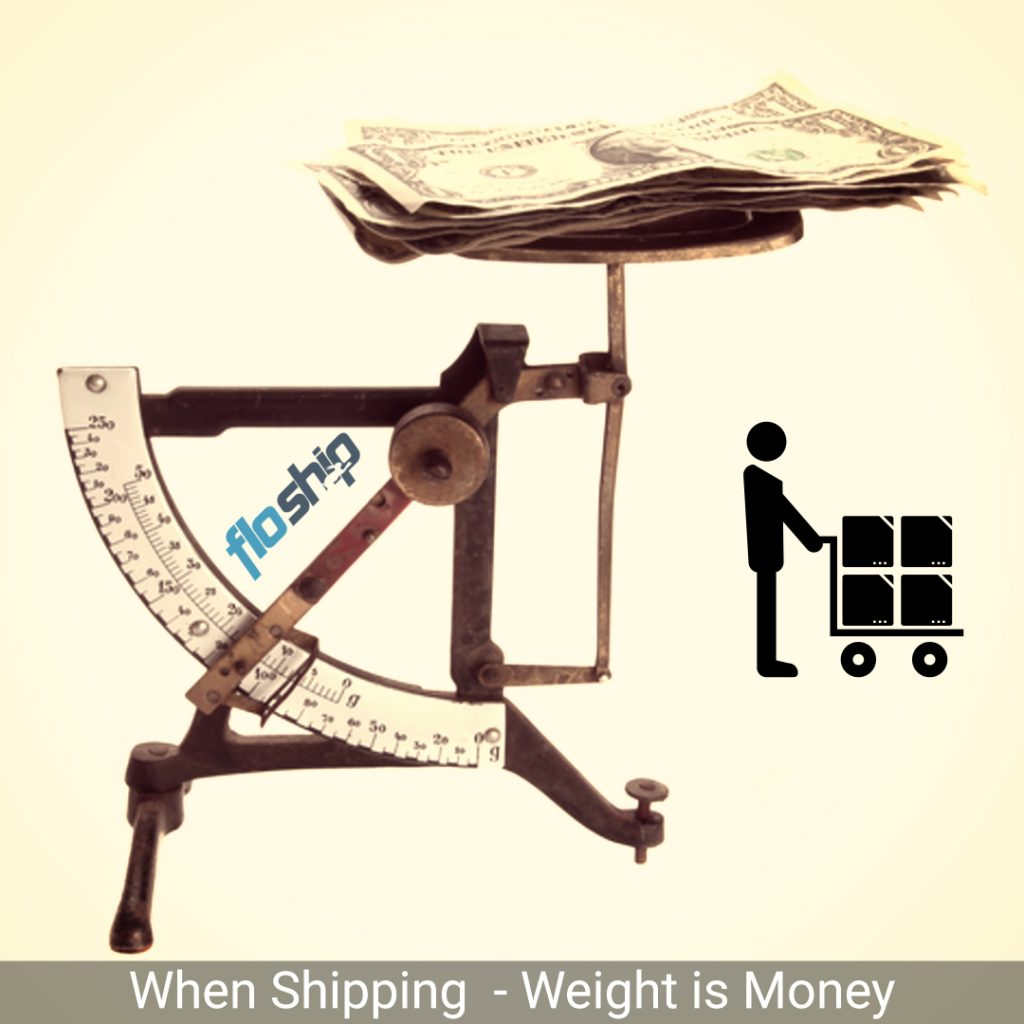 shipping weight equals money