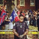 Is An Image Of A Black Policeman Protecting Racist Protesters Real From Charlottesville, Virginia?