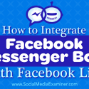 How to Integrate Facebook Messenger Bots With Facebook Live : Social Media Examiner
