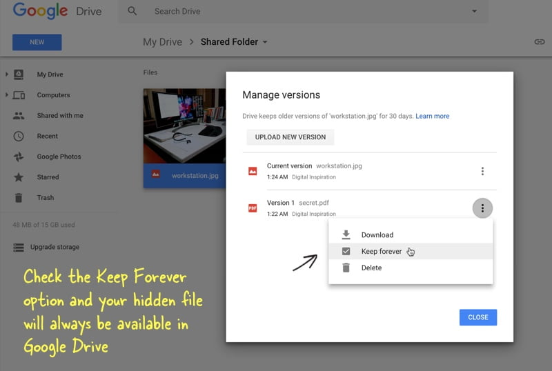 How to Hide Secret Files in Google Drive So Nobody Can Find Them