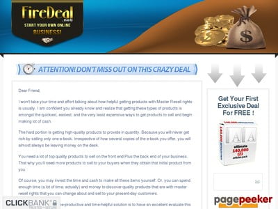 Crazy FireDeal – Best PLR Products | Start Your Own Online Business!