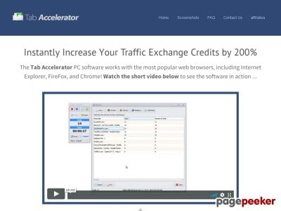 Tab Accelerator – Powerful Traffic Exchange Software