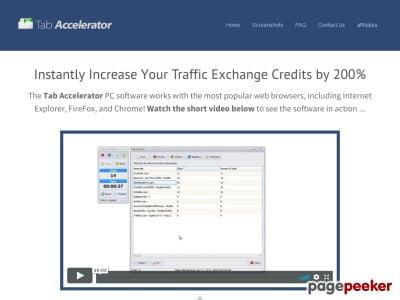 Tab Accelerator - Powerful Traffic Exchange Software