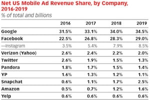 The US Digital Ad Market: A Google and Facebook Duopoly