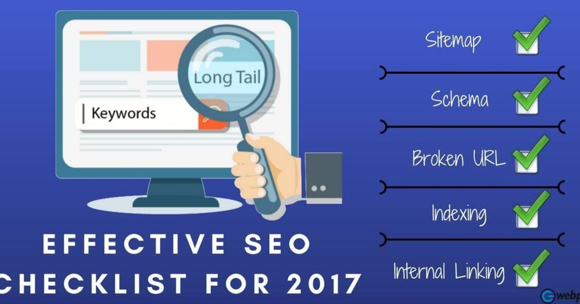 Effective SEO Checklist for 2017