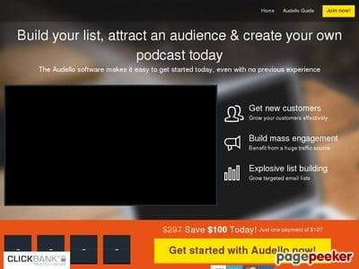 Audello – The Traffic Getting, List Building Podcast Platform