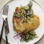The Day - Schnitzel with salad: Bringing pork and cucumber together in this recipe