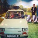 Google balloon statues, a Fiat Polski car & massage chair