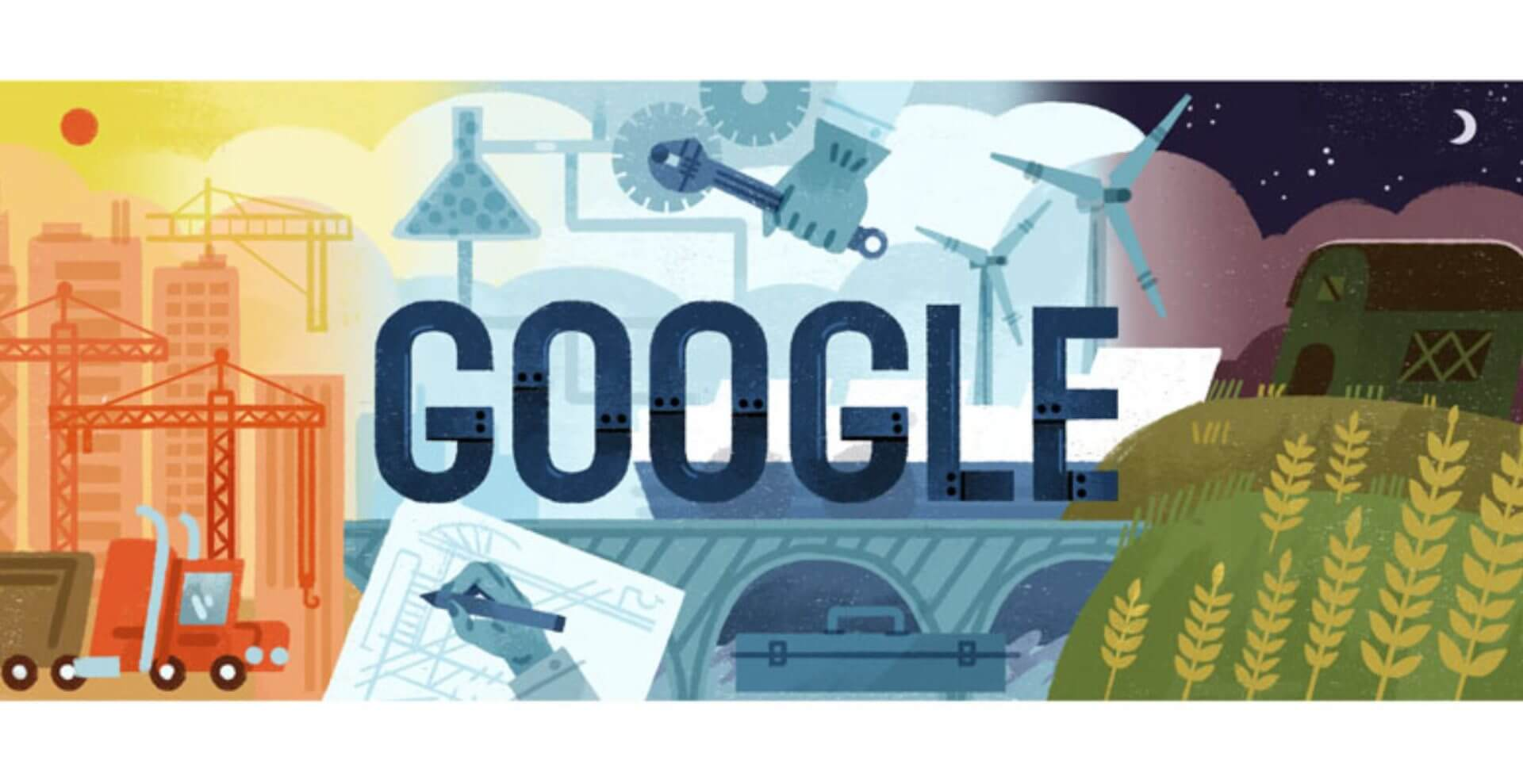 Labor Day Google doodle inspired by art created during The Great Depression