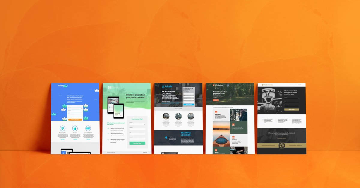 10 Industry-Specific Landing Page Templates
