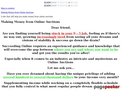 Making Money from Online Auctions – A site that will help you make money from online auctions