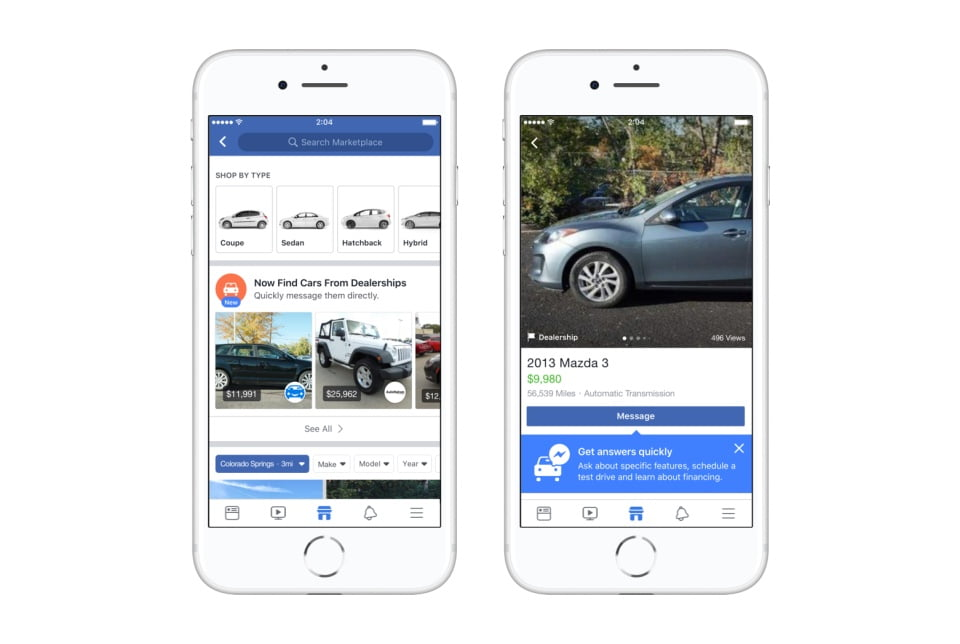Facebook's Expanding Marketplace with a New Dedicated Section for Vehicles