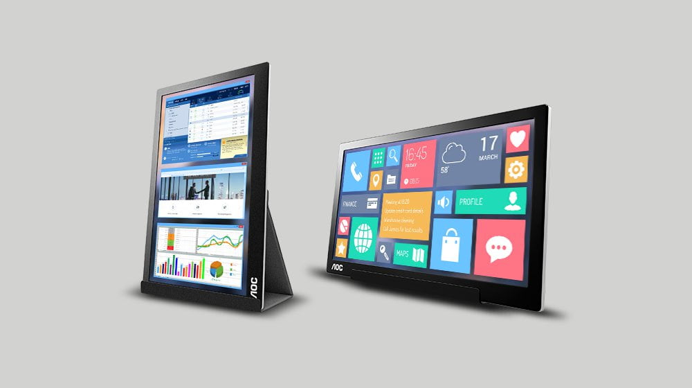 AOC Portable 16-Inch Monitor Offers Options to Small Business Owners on the Go