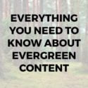 Everything You Need to Know about Evergreen Content