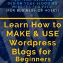 Learn How To MAKE & USE WordPress Blogs for Beginners: A WordPress Guide/Tutorial/Training & Development Book to Help You Create & Design Your Blogging/Websites for Free (For Business or Hobby)