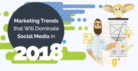 Marketing Trends that will Dominate Social Media in 2018 [Infographic]