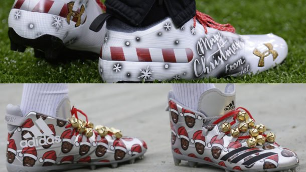 7221ea6e58b6de See the fantastic cleats NFL players wore on Christmas Eve