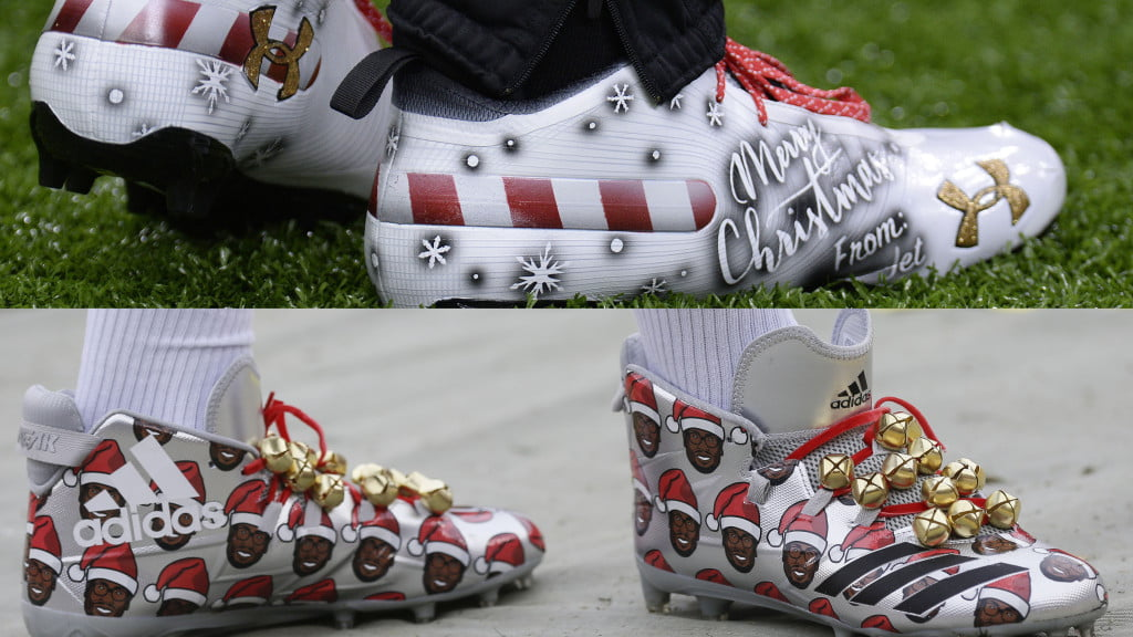 e4bd0645333 See the fantastic cleats NFL players wore on Christmas Eve