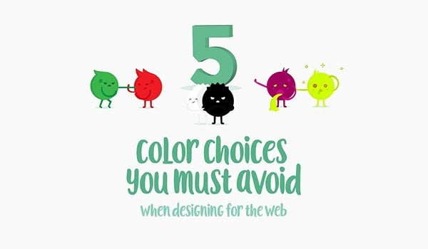 5 Color Choices That Could Ruin Your Website [Infographic]