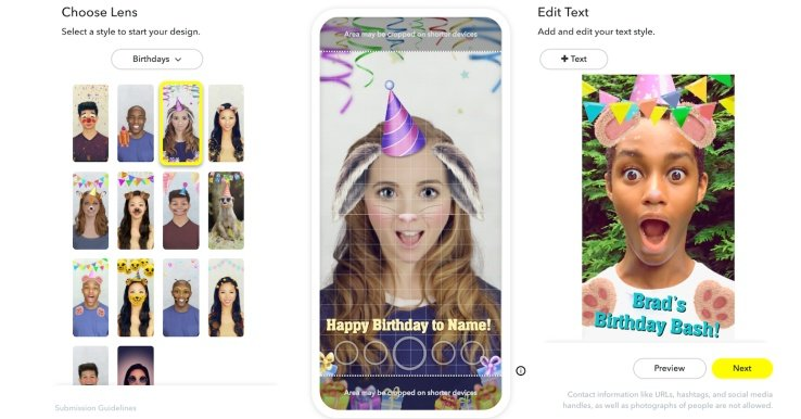 Snapchat's Adding a New Custom Lenses Option for Events
