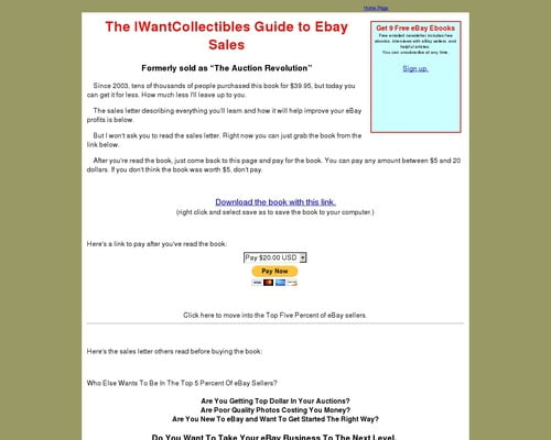 The Auction Revolution Ebay System Good To Seo