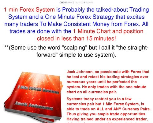 1 min FOREX System – Trade with 1 minute chart forex system