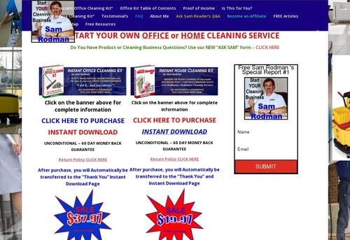 HOME   Sam Rodman's Start Your Own Office or Home Cleaning Business