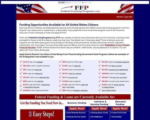 FederalFundingPrograms.org – Just another WordPress site